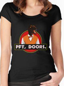 Pft, doors. Women's Fitted Scoop T-Shirt
