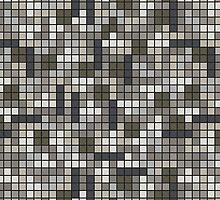 Tetris Inspired Grayscale Pattern by pidesignprints