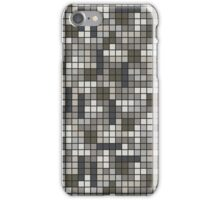 Tetris Inspired Grayscale Pattern iPhone Case/Skin