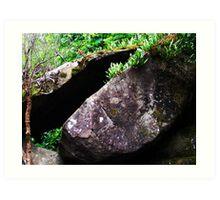 Cataract Gorge Rocks 1D Art Print