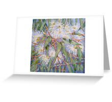 White gum blossom outside our window 2012Ⓒ. Oil on canvas Greeting Card
