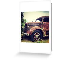 Rusty Broke Down Pickup Truck Greeting Card