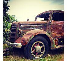 Rusty Broke Down Pickup Truck Photographic Print