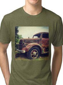 Rusty Broke Down Pickup Truck Tri-blend T-Shirt