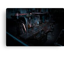 Vintage grinding machine Canvas Print