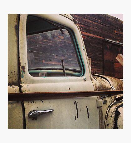 Rusty Ol' White Pickup Photographic Print