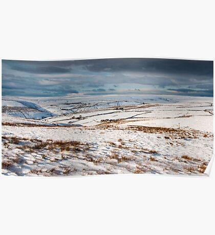 Winter moorland scene Poster