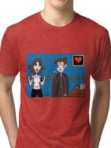 Vampires Need Love Too! ...Jhonen makes Rebecca vampire, by mistake Tri-blend T-Shirt