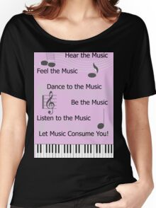 For the Love of Music Women's Relaxed Fit T-Shirt