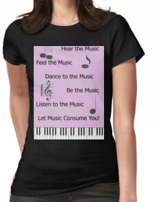 For the Love of Music Womens Fitted T-Shirt
