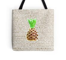 Psych Burton Guster Nicknames - Television Show Pineapple Room Decorative TV Pop Culture Humor Lime Neon Brown Tote Bag