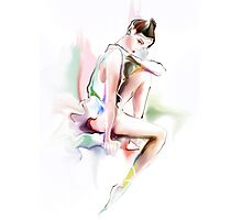 fine young ballerina sitting  Photographic Print