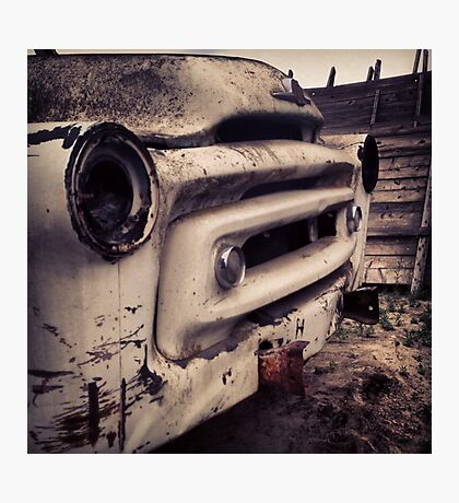 Classic Truck Abandoned in Washington State Photographic Print