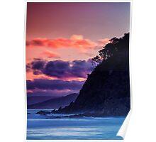Park Beach At Sunset. Poster