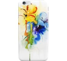 Floral watercolor illustration iPhone Case/Skin
