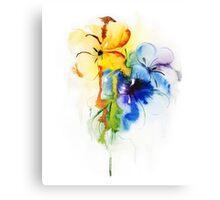 Floral watercolor illustration Canvas Print