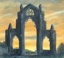Gisborough Priory Ruins At Sunset by Lee Twigger