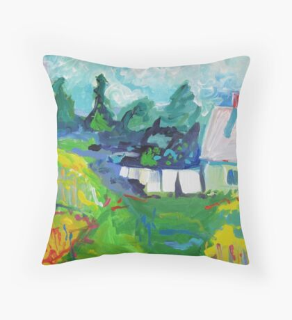 Croft House B&B, Nova Scotia Throw Pillow