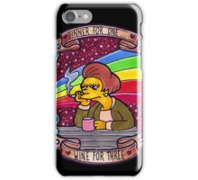 Edna - Dinner for one, wine for three. iPhone Case/Skin