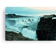 Gullfoss in Spring Canvas Print