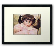 Bubbles - China Doll Framed Print