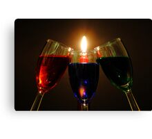 Drinks by Candlelight Canvas Print