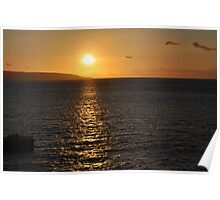 Sunset over North West Point Poster