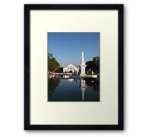 Plaza Salcedo Reflections Framed Print