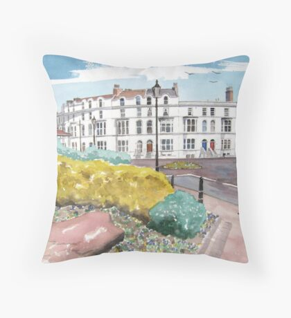 """An Evening Stroll"" - Burnham-on-Sea, Somerset Throw Pillow"