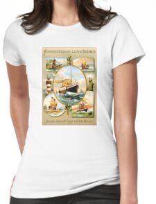 Norddeutscher Lloyd Bremen Vintage Travel Poster Womens Fitted T-Shirt