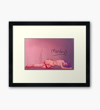 Mondays Framed Print
