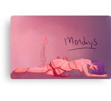 Mondays Canvas Print