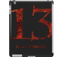 Black Sabbath - 13 - Typography  iPad Case/Skin
