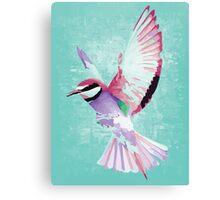 Bird watercolor digital art watercolor like Canvas Print
