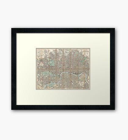 London vintage map Framed Print