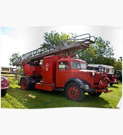 Austin A4 Fire Engine Poster