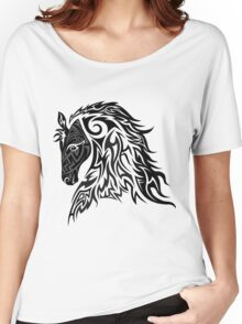 Tribal Tattoo Style Horse Women's Relaxed Fit T-Shirt