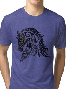 Tribal Tattoo Style Horse Tri-blend T-Shirt