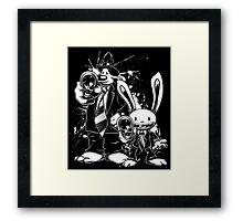 Sam & Max X Pulp Fiction (white) Framed Print