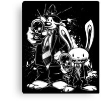 Sam & Max X Pulp Fiction (white) Canvas Print