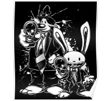 Sam & Max X Pulp Fiction (white) Poster