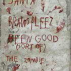 zombies letter to Santa by yvonne willemsen