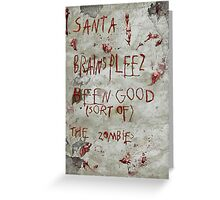 zombies letter to Santa Greeting Card