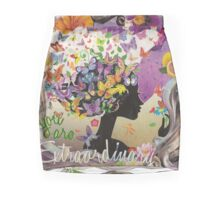 Spiritual Inspirational Extraordinary Encouragement Mini Skirt