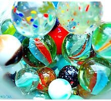 vintage marbles Photographic Print