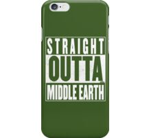 STRAIGHT OUTTA MIDDLE EARTH iPhone Case/Skin