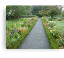 Formal garden walkway Canvas Print