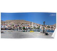 Halki Harbour Panorama Poster