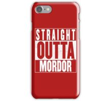 STRAIGHT OUTTA MORDOR iPhone Case/Skin