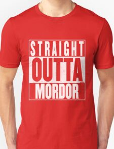 STRAIGHT OUTTA MORDOR Unisex T-Shirt